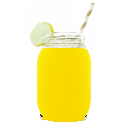 Neoprene Mason Jar (16oz) Coolie (1 Color Print)