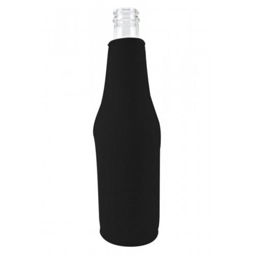 Neoprene Beer Zipper Bottle Coolie (1 Color Print)