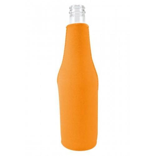 Neoprene Beer Zipper Bottle Coolie (Multi-Color Print)