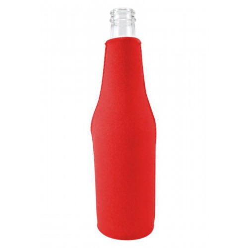 Neoprene Beer Zipper Bottle Coolie (Small Order)